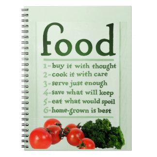 Vintage Food Poster Spiral Notebook