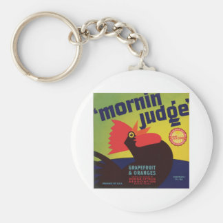 Vintage Food Product Label Basic Round Button Key Ring