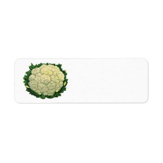 Vintage Food Vegetables Veggies Cauliflower Return Address Label
