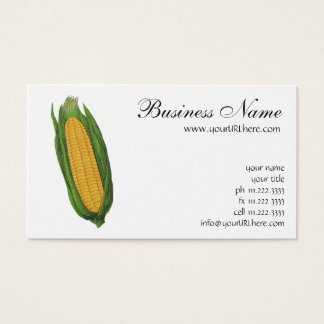 Vintage Food Vegetables; Yellow Corn on the Cob Business Card