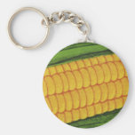 Vintage Food Vegetables; Yellow Corn on the Cob Keychains