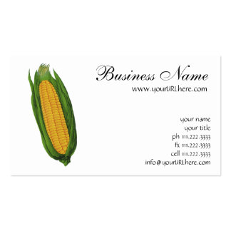 Vintage Food Vegetables; Yellow Corn on the Cob Pack Of Standard Business Cards