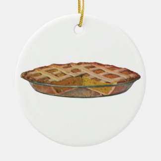 Vintage Foods, Dessert, Thanksgiving Pumpkin Pie Christmas Ornament