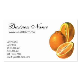 Vintage Foods, Fruit Organic Fresh Healthy Oranges Pack Of Standard Business Cards