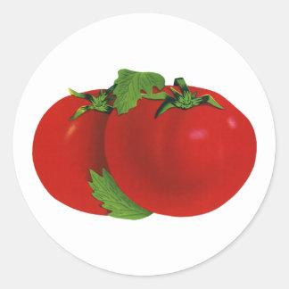 Vintage Foods, Organic Red Ripe Heirloom Tomato Round Sticker