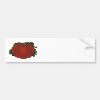 Vintage Foods, Ripe Tomato, Vegetables and Fruits Bumper Sticker