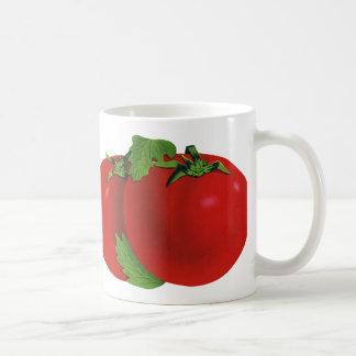 Vintage Foods, Vegetables, Organic Red Ripe Tomato Basic White Mug