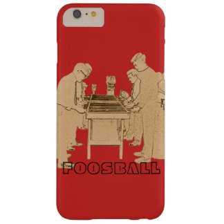 VINTAGE FOOSBALL FUZBOLL PHOTO ART TABLE FOOTBALL BARELY THERE iPhone 6 PLUS CASE