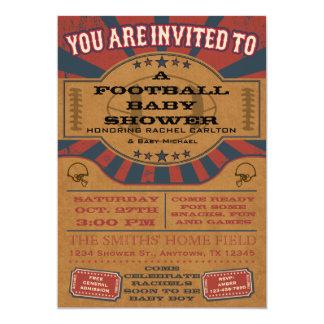 Vintage Football Baby Shower Invitation