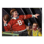 Vintage Football Dad and Son Greeting Card
