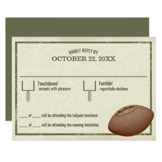 Vintage Football Pass Bar Mitzvah Reply Card 9 Cm X 13 Cm Invitation Card