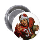 Vintage Football Player; Running Back Number 31 Pinback Button