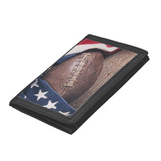 Vintage Football Tri-fold Wallets
