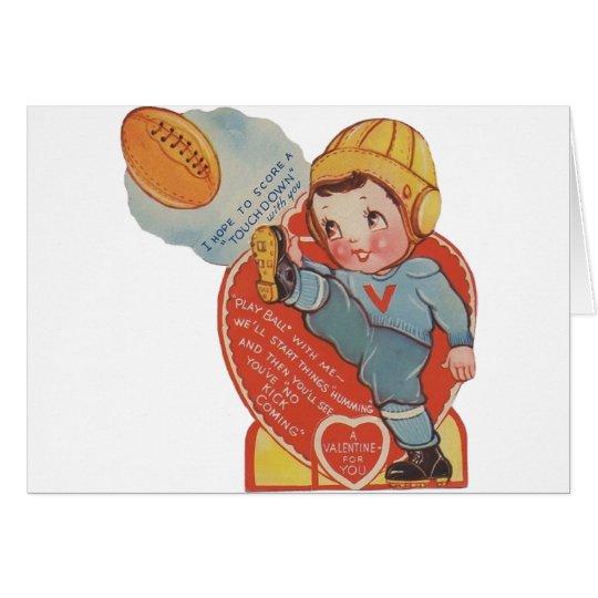 Vintage Football Valentine Greeting Card