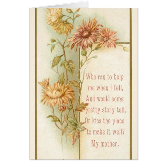 Vintage Foral Mother's Day Card