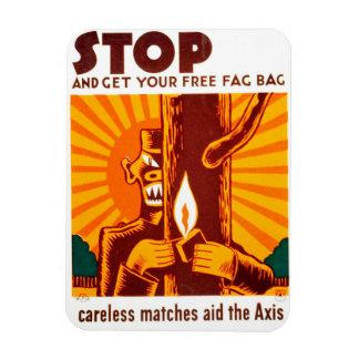 Vintage Forest Fire Prevention WPA Poster Rectangular Photo Magnet