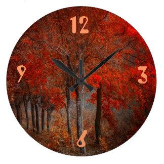 Vintage Forest Scene Large Clock