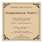 Vintage Formal Masquerade Costume Party Personalised Announcement