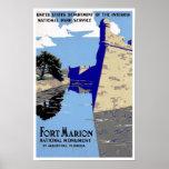 Vintage Fort Marion National Monument Print