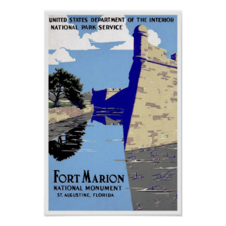 Vintage Fort Marion National Monument Print