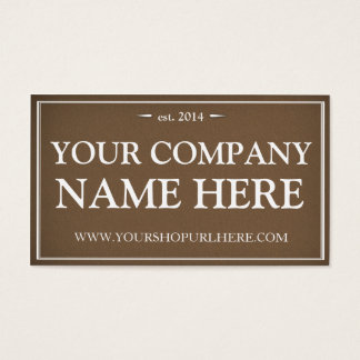Vintage Foundry Business Card - Modern Masculine