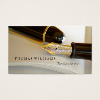 Vintage Fountain Pen | Writer Business Card