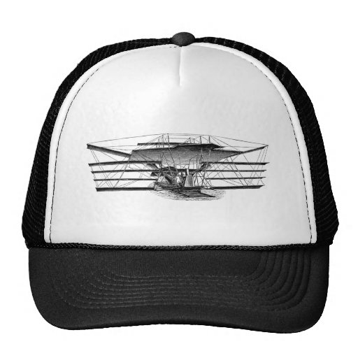 Vintage Four Wing Flying Machine Hats