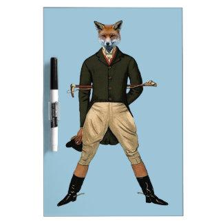 Vintage fox Hunting Dry Erase Whiteboard