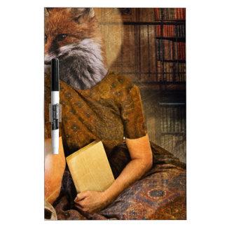 Vintage Fox Lady Face Animal Dry Erase Boards