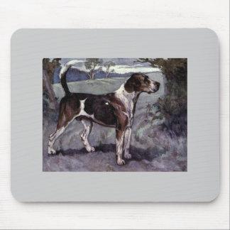 Vintage  foxhound Illustartion Mousepads