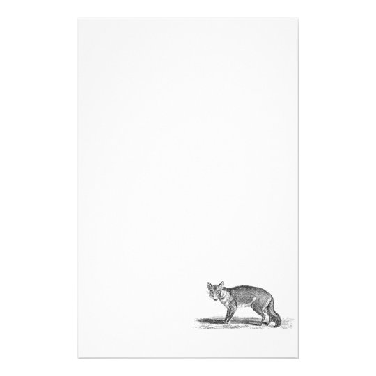 Vintage Foxy Fox Illustration - 1800's Foxes Custom