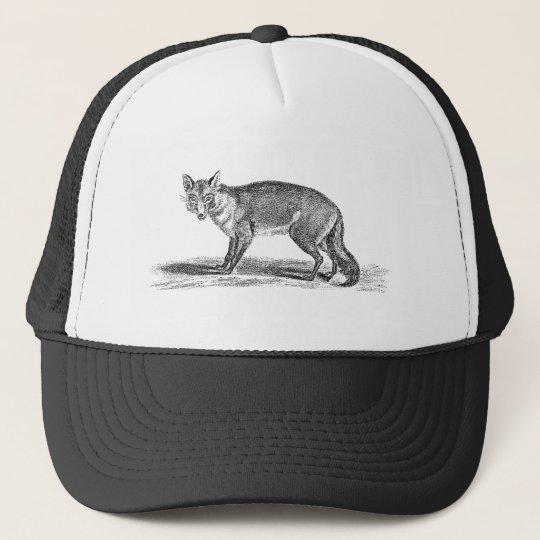 Vintage Foxy Fox Illustration -1800's Foxes Trucker Hat