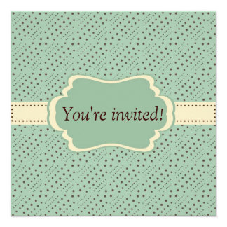 Vintage Frame 13 Cm X 13 Cm Square Invitation Card