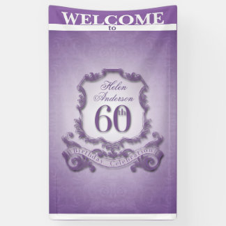 Vintage frame 60th Birthday celebration Banner