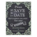 Vintage frame and chalkboard wedding Save the Date