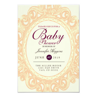 Vintage Frame Baby Shower | Party Invite