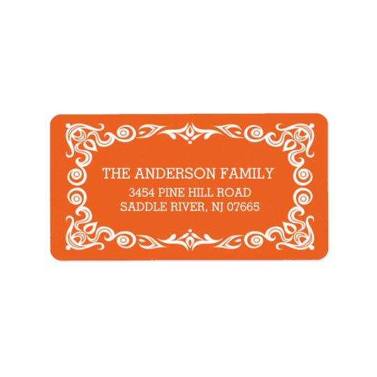 Vintage Frame Halloween Return Address Address Label