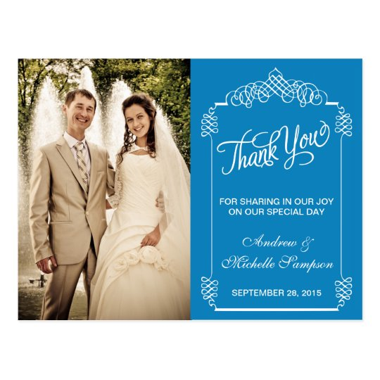 Vintage Frame Thank You Postcard Template