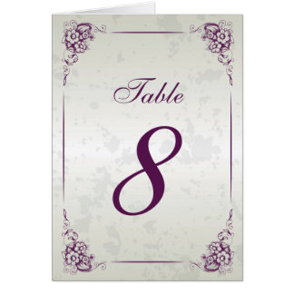Vintage Frame Wedding Reception Table Number Note Card