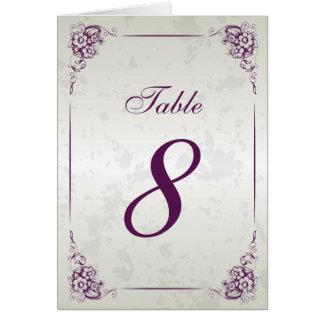 Vintage Frame Wedding Reception Table Number Stationery Note Card