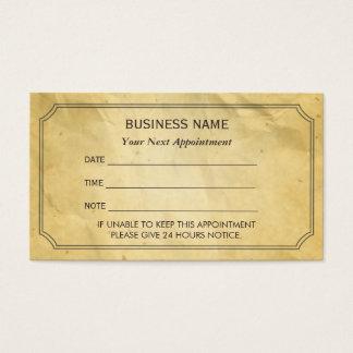 Vintage Framed Old Paper Appointment Reminder