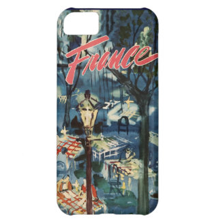 Vintage France Advertisement Blue Cafe Travel iPhone 5C Case