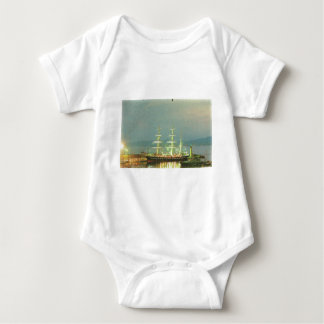 Vintage France at sea, boats and ships Baby Bodysuit