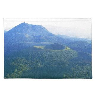 Vintage France, Auvergne, Volcano crater Place Mat