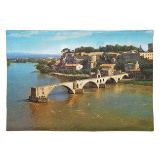 Vintage France, Avignon; broken bridge Placemat