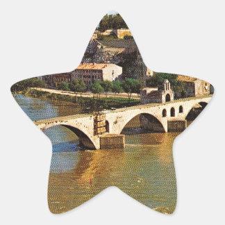 Vintage France, Avignon; broken bridge Star Sticker