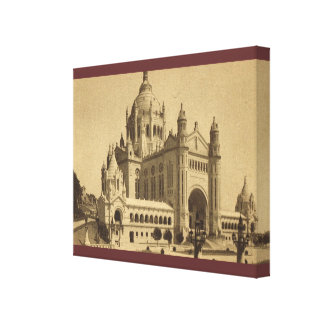 Vintage France, Basilique de Lisieux Canvas Print