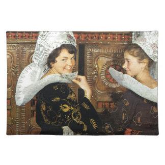 Vintage France, Bretonne ladies Placemat