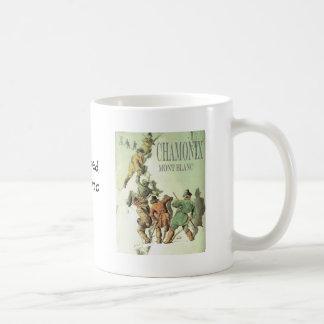 Vintage France, Chamonix, Mt Blanc Basic White Mug