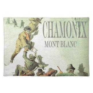 Vintage France, Chamonix, Mt Blanc Placemat